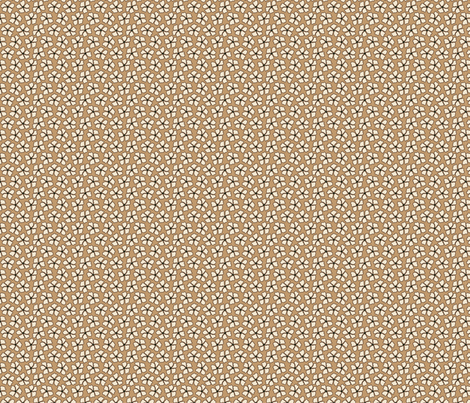 Flower Mocha Dots fabric by thejoyofdesign on Spoonflower - custom fabric