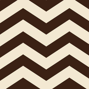 Coffee and Cream Chevron