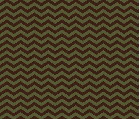 Chevron in Green and Brown fabric by thejoyofdesign on Spoonflower - custom fabric