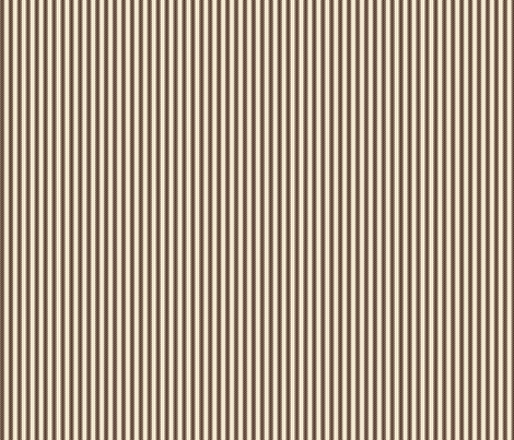 Mocha Cream Ticking fabric by jolenebalyeatdesigns on Spoonflower - custom fabric