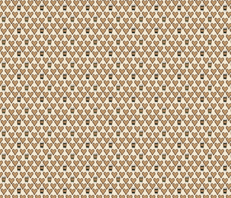 I Love a Latte in Cream fabric by thejoyofdesign on Spoonflower - custom fabric