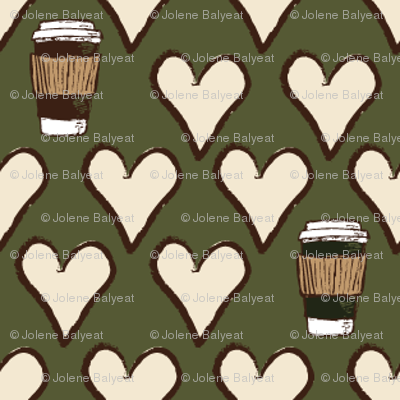 I Love a Latte in Green