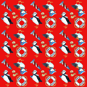 Puffin Navy (red)