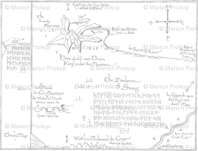 Thror's Map - Embroidery Outline
