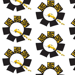 Quilters Take Manhattan - QTM - Logo Circle Brick