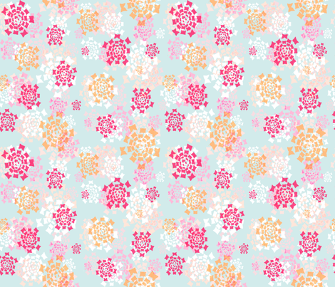 flower squared fabric by keweenawchris on Spoonflower - custom fabric