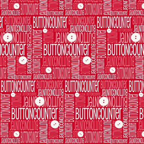 Personalised Name Fabric - Red Buttons