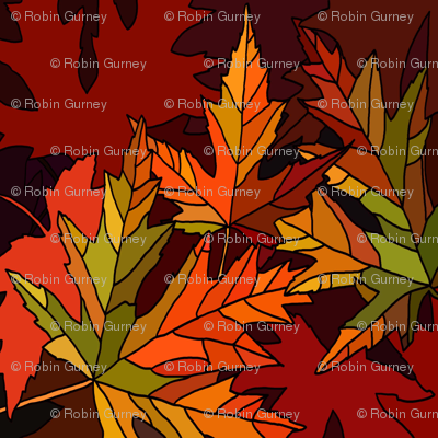 Fall leaves square
