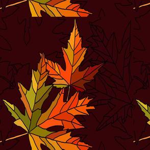 Fall leaves on