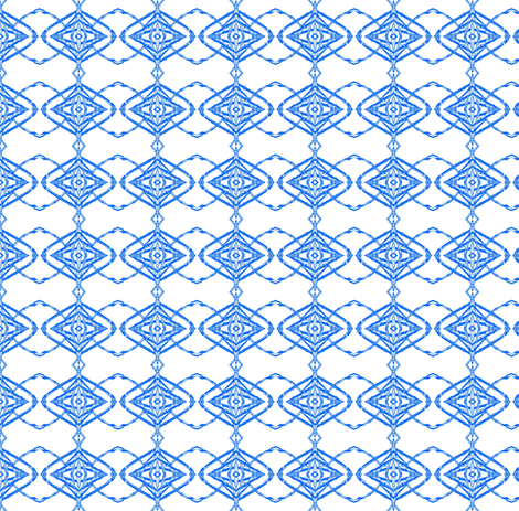 Blue Vines on White fabric by robin_rice on Spoonflower - custom fabric