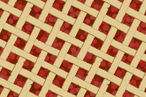 """Summer Picnic"" - Cherry Pie fabric by mjdesigns on Spoonflower - custom fabric"