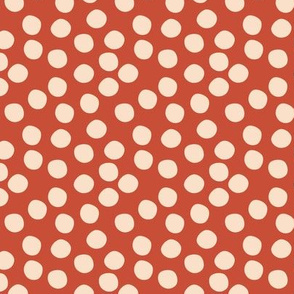 Scatter Dot - Red & Cream