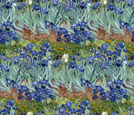 Van Gogh: Irises widthwise repeat