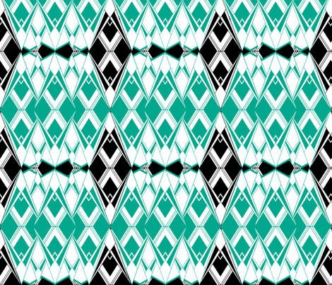 Art Deco ~ Diamonds and Emeralds fabric by peacoquettedesigns on Spoonflower - custom fabric