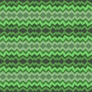lazy zigzag in ombre green