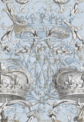 Crown Damask ~ Le Dauphin ~ Gilt and Silvered