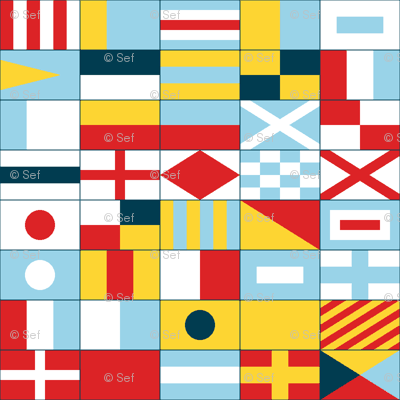 nautical flags - compact