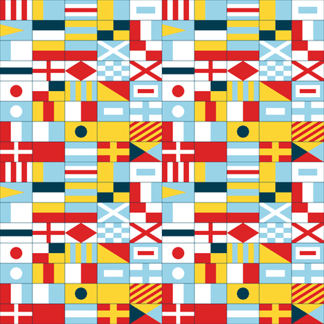 nautical flags - compact fabric by sef on Spoonflower - custom fabric