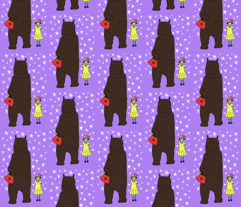 bear with me (ursa major) fabric by raebies on Spoonflower - custom fabric