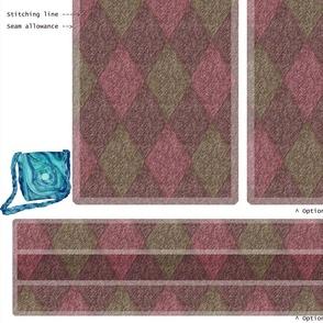 DIY Handbag - Tweedy pink, green, mauve