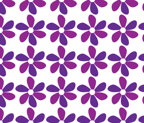 purpleflower fabric by lesrubadesigns on Spoonflower - custom fabric