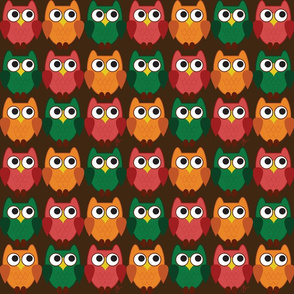 Fall Cartoon Owl