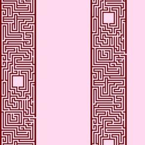 Maze Stripe - Red