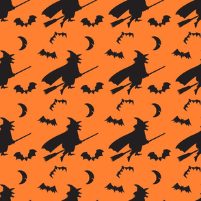 Witches Bats and Moon