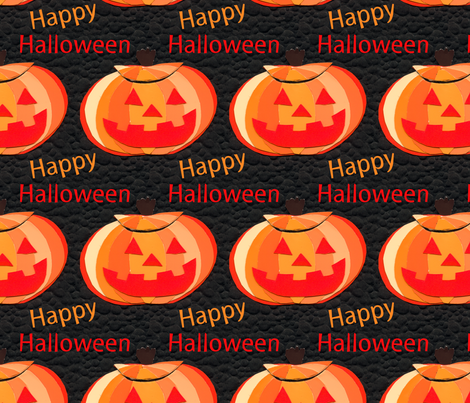 Halloween Jack o Lantern fabric by lesrubadesigns on Spoonflower - custom fabric