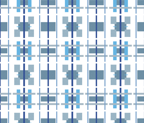 Parking Lots in Blue and Gray fabric by anniedeb on Spoonflower - custom fabric