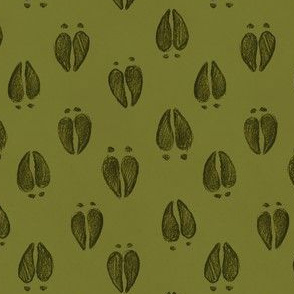 Deer Hoofprint Leaf Green