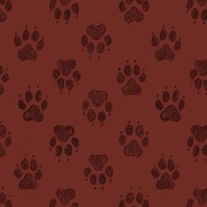 Coyote Pawprints Brick Red