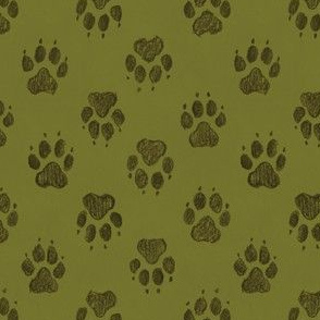 Coyote Pawprints Leaf Green