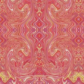 Swirly Pinky Boho Abstract Pattern
