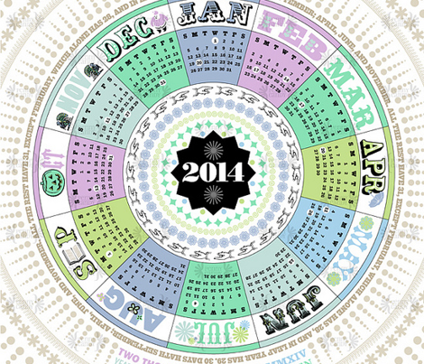 2014 Tea Towel Calendar (Winter)