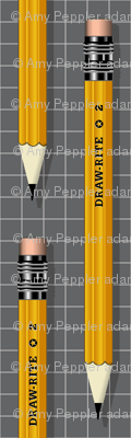No. 2 Pencil* (Pepper Pot) || writing drawing school office supplies graph paper geek nerd math science