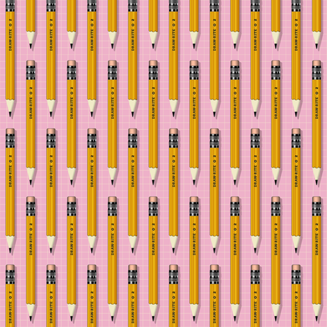 No. 2 Pencil* (Pink Cow) fabric by pennycandy on Spoonflower - custom fabric