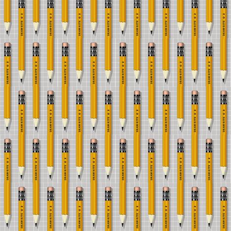 No. 2 Pencil* (Silkscreen) fabric by pennycandy on Spoonflower - custom fabric