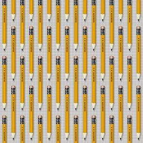No. 2 Pencil* (Silkscreen) || writing drawing school office supplies graph paper geek nerd math science