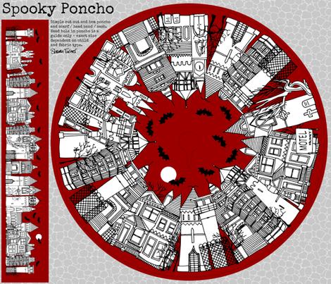 spooky poncho  fabric by scrummy on Spoonflower - custom fabric
