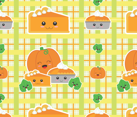 Pumpkin Pie plz fabric by amimi on Spoonflower - custom fabric