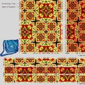 DIY Handbag - yellow orange red