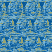 Toy Boats in Blue