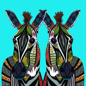 zebra love turquoise swatch