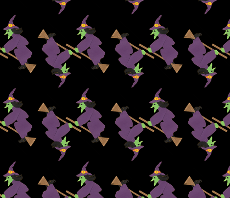Flying Witches fabric by lesrubadesigns on Spoonflower - custom fabric