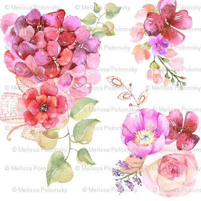 Summer Garden in Pink