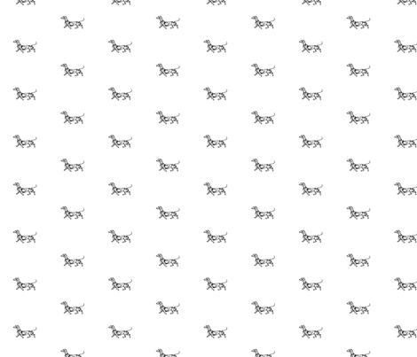 Little Swirl Dachshund  fabric by theartwerks on Spoonflower - custom fabric