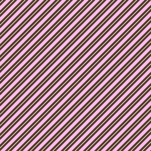 Candy Cane Stripes in Pink and Brown