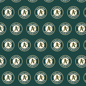 A's logo on Green
