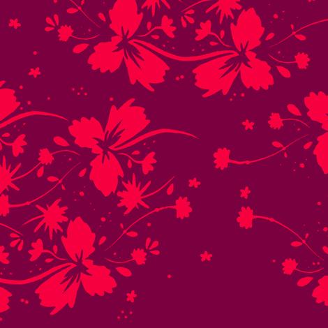 Contrast Flowers fabric by jadegordon on Spoonflower - custom fabric